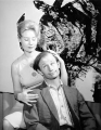 Actors Robert Clothier and Marlene Dixon in Frederic Wood Theatre production of...